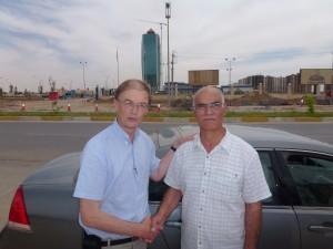 CSI's Gunnar Wiebalck with Dr. Yousef.