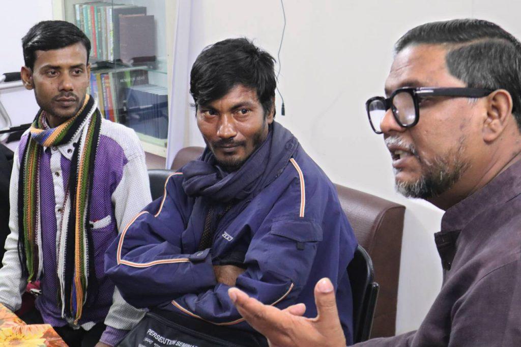 Bangladeshi day laborers.