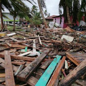 Nicaragua hurricane destruction